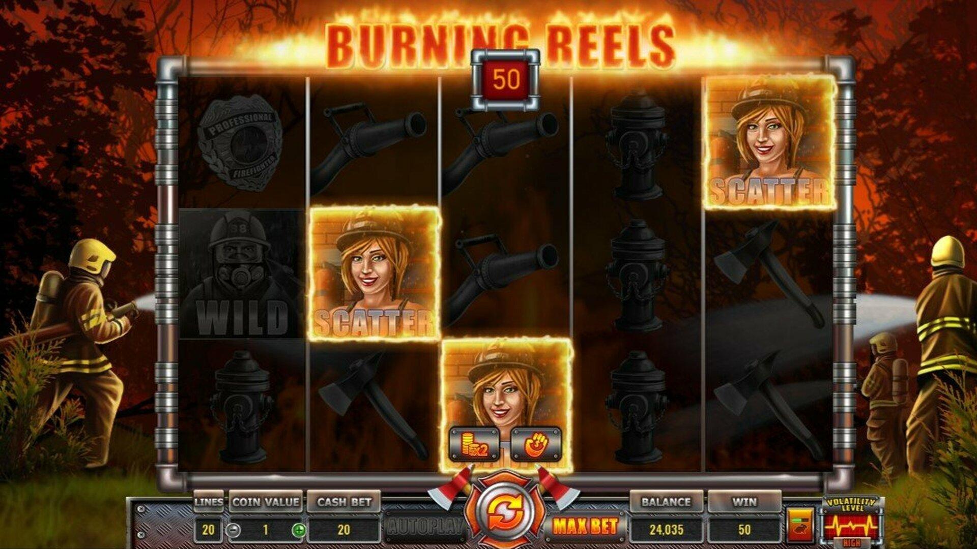 Wazdan Released its new Burining Reels Slot